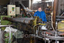 Производство сетки рабицы на Фолиант Метиз